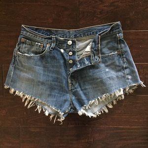 Vintage Levi 501 Button-fly Shorts